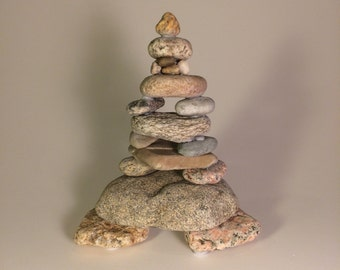 Stacked Beach Rocks - Natural Beach Rocks from Cape Cod (#102)