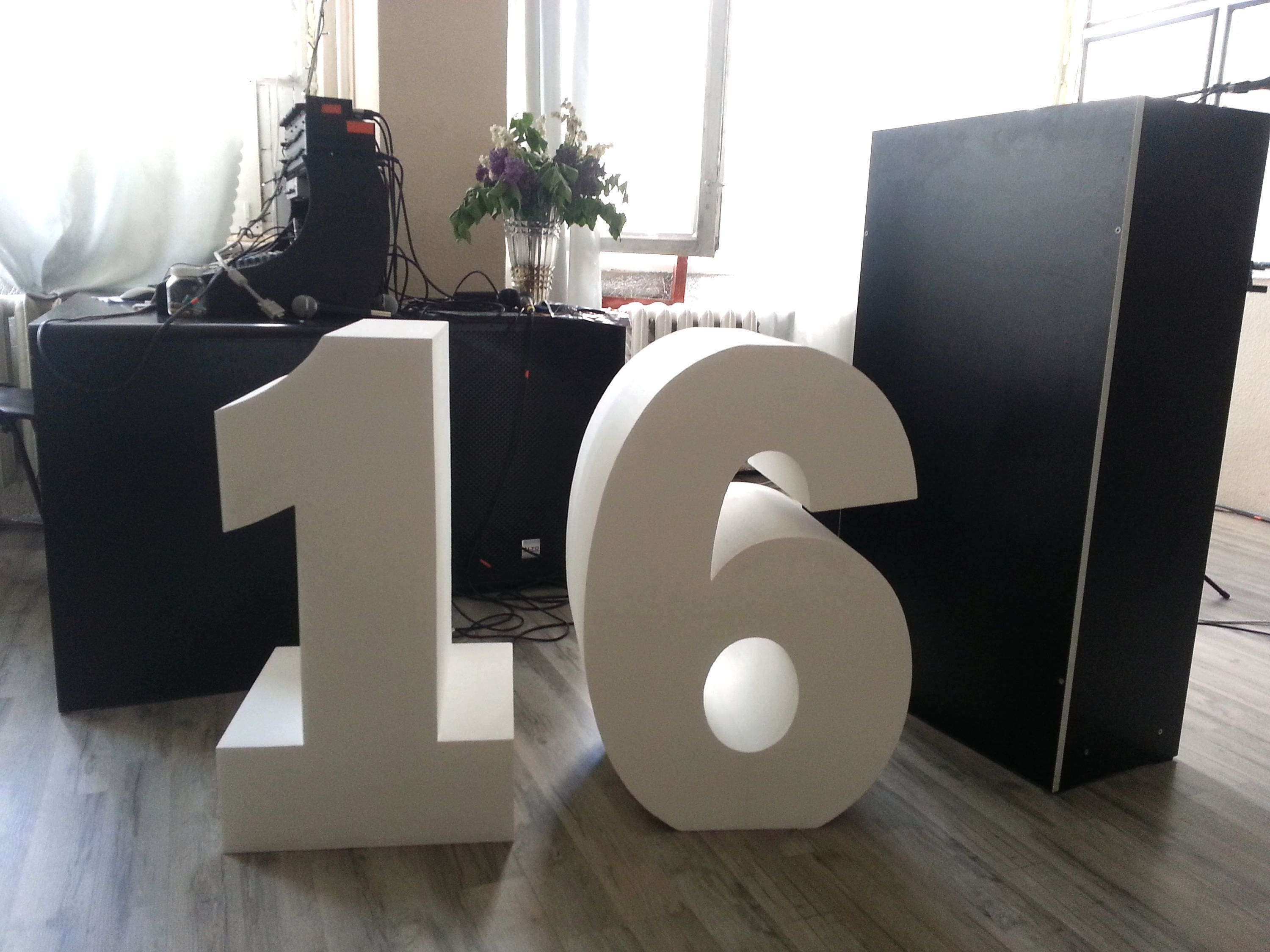 Giant numbers 30 inch 3d number large free standing letters for Large 3d numbers