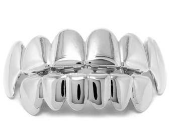 Silver Plated Fang Grillz