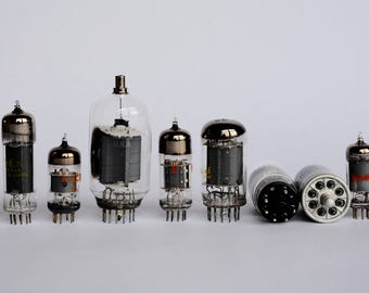 10 Electronic Vacuum Tubes, Electronic Parts, Industrial, Steampunk Supplies, Altered Art Supplies, Radio Tubes, TV Tubes, Vacuum Tube