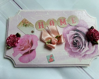 Romantic shabby door plate