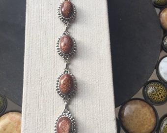 Silver and sun sitara bracelet