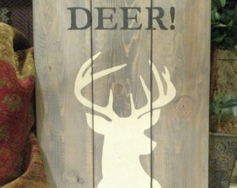 "10.5"" x 17"" Oh, Deer! Silohuette Pallet wood sign"