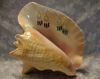 Small Beaded Chandelier Earrings