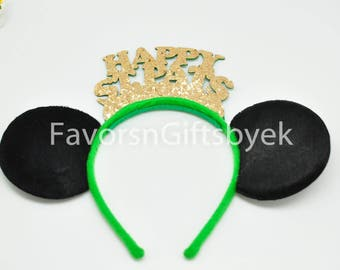 1 Sparkly Minnie Ears Mickey Ears Minnie Mouse Ears Mickey Mouse Ears Headbands ST Patrick's Day