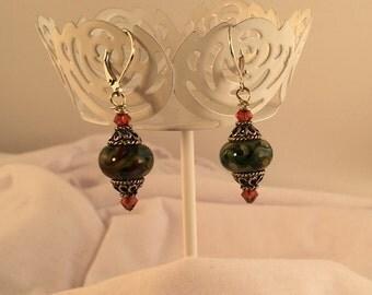 Lampwork dangle earrings