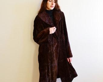 Faux fur coat | Etsy