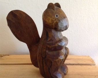 Wood Squirrel. Rustic. Home Decor. Cabin decor.