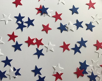 Red, White, and Blue Star Confetti - Patriotic Party - 4th of July Party Decor - Baseball Party Decor - Baseball Birthday Party - Star Decor