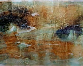 Sahara (n.307) - 112 x 60 x 2,50 cm - ready to hang - mix media painting on stretched canvas