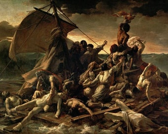 Théodore Géricault : The Raft of the Medusa (1818–1819) Canvas Gallery Wrapped Wall Art Print