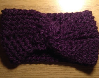 Knotted Headband: Deep Purple