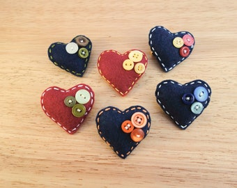 Heart Felt Brooches