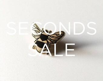 SECONDS SALE / / Bee Enamel Pin - Lapel Pin - Bumble Bee