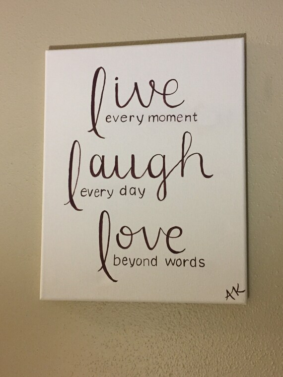Beyond Words Customizable Wall Decor Kohls : Live laugh love inspirational home decor wall art canvas