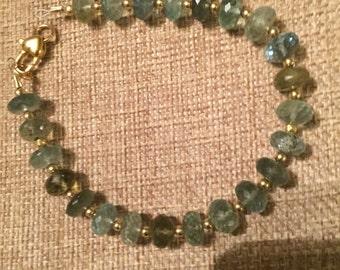 Moss aquamarine plus size bracelet