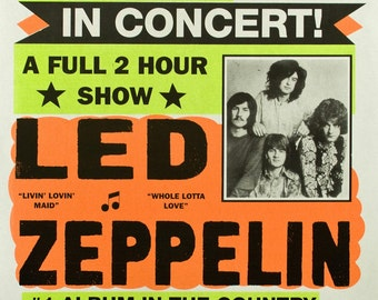 Items Similar To Led Zeppelin Globe Poster Classic
