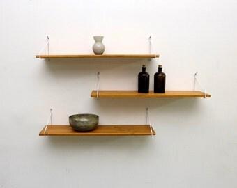 3-Shelf board/ladder rack/hanging rack/wall/natural wood flooring