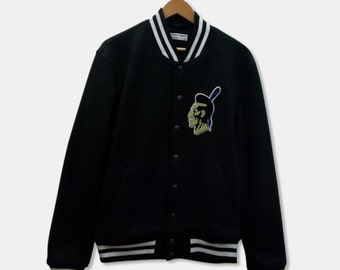 American Apparel Black Mohawk Cotton Varsity