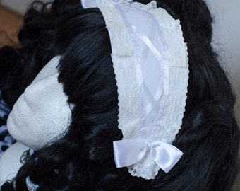 Headpiece sweet Gothic Lolita black white loop