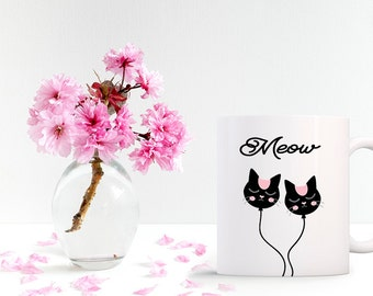 Mug Girly MEOW for (its) lovers of cats and animals