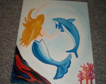 16x20 inch Ocean Friends Painting