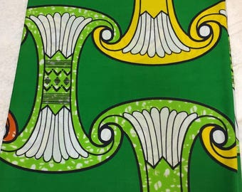African Print Fabric/ Dutch Wax/ Ankara/ Multi Color Per Yard