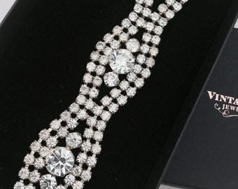 1950's Ice Rhinestone Bracelet