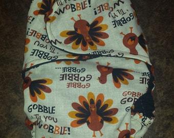 "Thanksgiving ""Gobble Till You Wobble!"" fitted cloth diapers"
