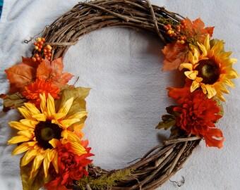 fall holiday wreath