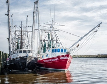 Art for the Wall - Coastal Shrimp Boats