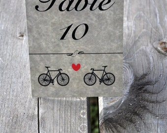 Wedding Table number / Bicycle  Table number / Cute Table number