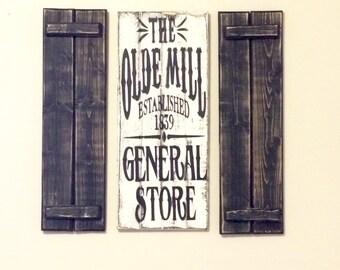 3 Piece General Store Shutter Set