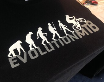 Evolution Of A Mountain Biker T-Shirt