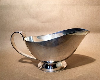 Vintage Silver Plated Gravy Boat - Gravy Container - Kitchen