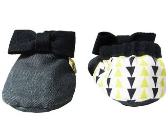 CAMP BABY 'Soho' Organic Cotton Slippers/ House Shoes / Baby Booties for Girls and Boys