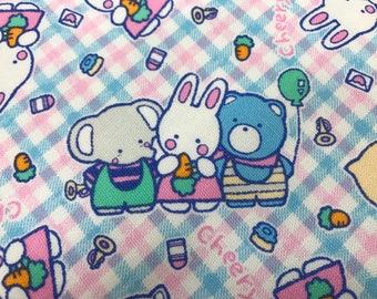 Sanrio Cheery Chums Fabric Made in Japan