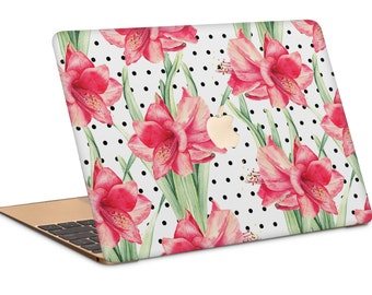 Floral and Dots Macbook Case