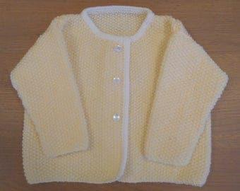Baby girl cardigan, Baby cardigan, Baby handknit, Baby girl handknit, Baby girl jacket, Handknit cardigan