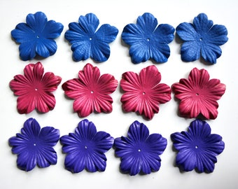 orchid leather flowers set of 12 pcs