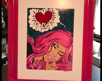 Framed Pop Art Mash Up Print