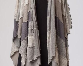 Boho fashion long shawl / loose poncho / sprinh / patchwork