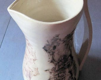 Beautiful ceramic pitcher signed A. Poizat, provencal artist signed artist's work