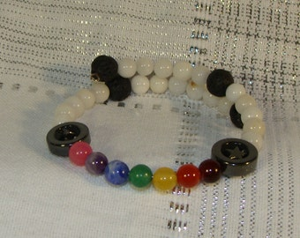 Rainbow Chakra Diffuser Bracelet