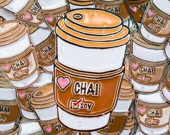 Soy Chai Latte pin