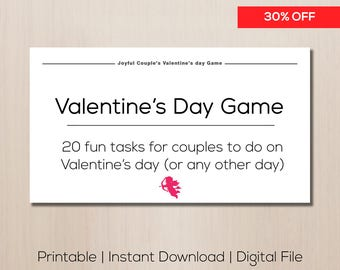 Valentine's day gift, valentines gift, gift for boyfriend, printable sex coupons, naughty couples game, sexy couples game, gift for him