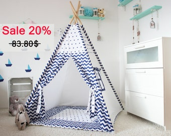 Teepee Wigwam Kids Teepee Playhouse Tee pee Kids teepee tent  sc 1 st  Etsy & Play Tents u0026 Playhouses | Etsy NZ