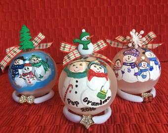 Snowmen family's