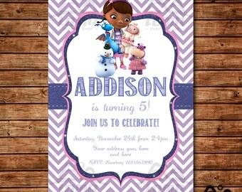 Doc McStuffins Birthday Invitation, Doc McStuffins Birthday, Disney Junior Invitation, McStuffins Birthday Invitation, Doc McStuffins
