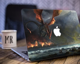 Macbook Sticker/ Lord Of The Rings, Smaug Decal/ Smaug/ LOTR Decal/ Amazing Decal/ Vinyl Decal/ Geeky Decal/ Laptop Decal - SD039